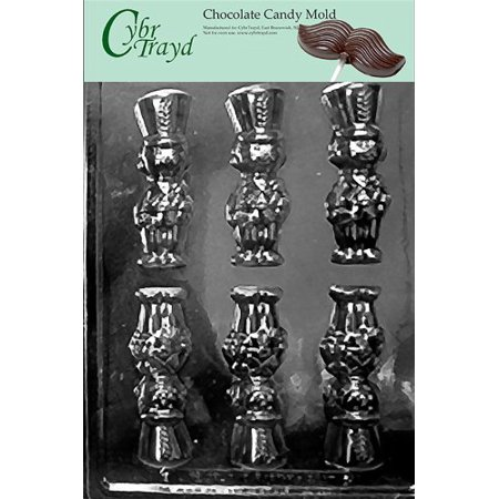 Wooden Candy - Cybrtrayd Life of the Party C446 Wooden Soldier Chocolate Candy Mold in Sealed Protective Poly Bag Imprinted with Copyrighted Cybrtrayd Molding Instructions