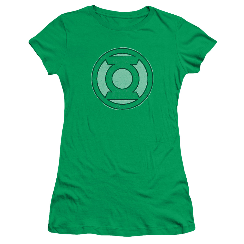 Green Lantern Hand Me Down Juniors Short Sleeve Shirt