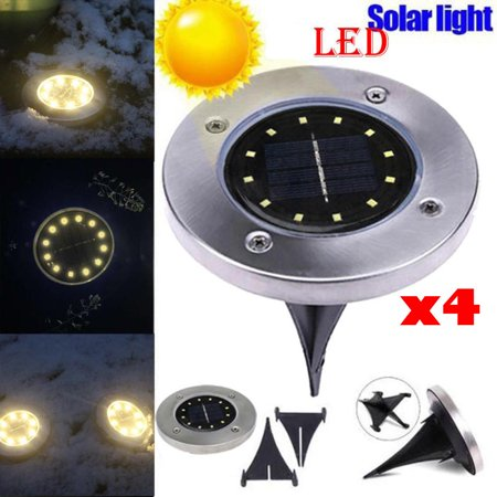 Tuscom Led Solar Buried Light Under Ground Lamp Outdoor Path Way Garden Decking