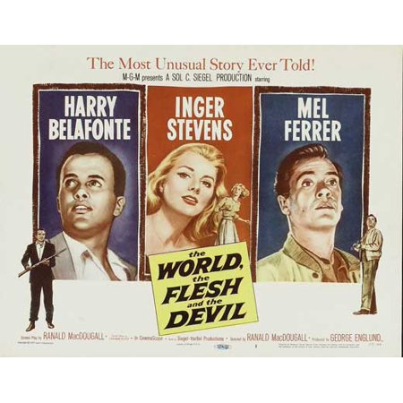 The World the Flesh and the Devil Movie Poster (11 x