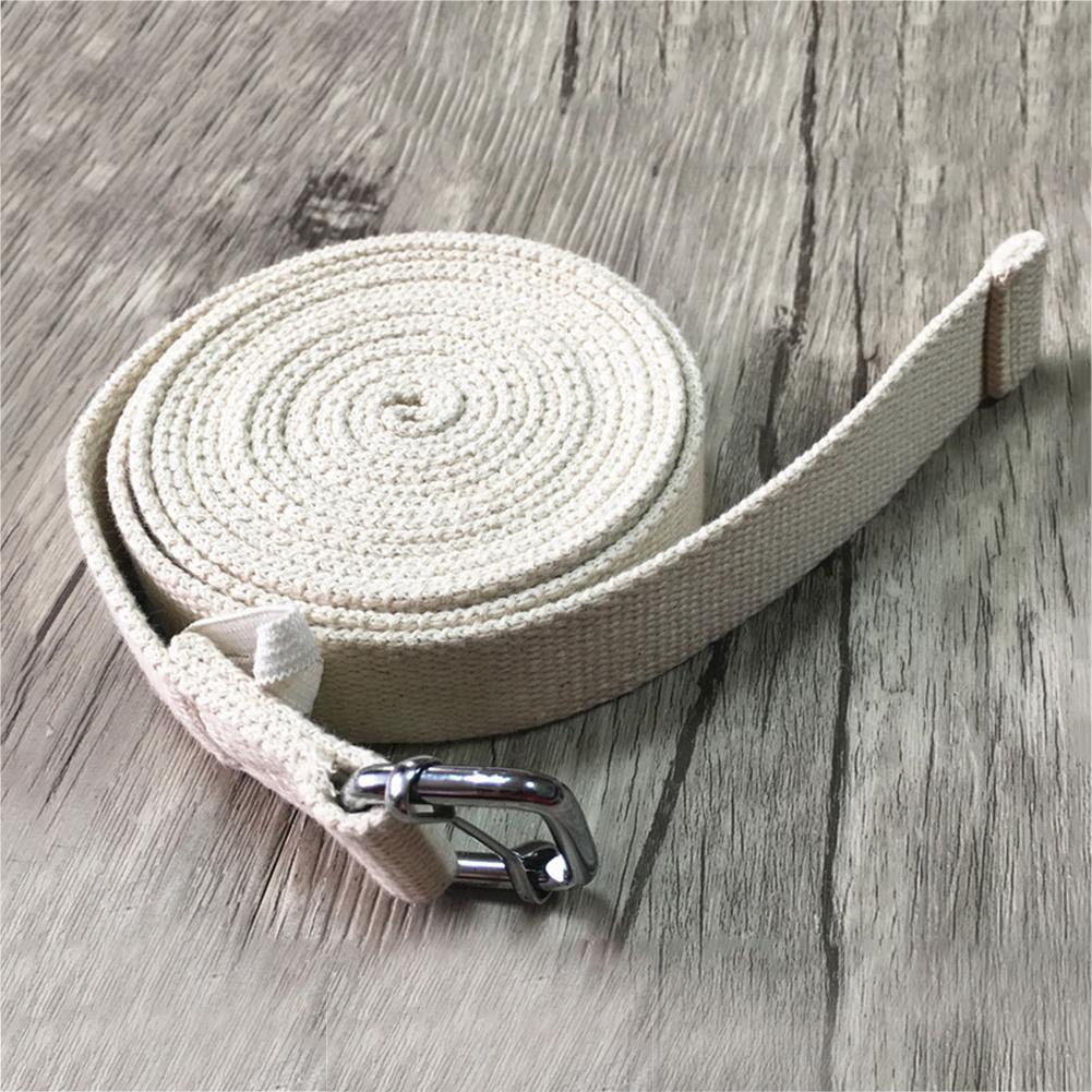 118 inch Yoga Stretch Strap D-Ring Belt Figure Waist Leg Resistance Fitness Band