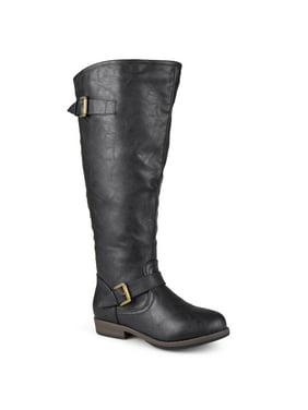Women's Extra Wide Calf Knee-high Studded Riding Boots
