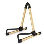 Donner DS-1 Gold Folding Guitar Stand for Acoustic Electric Classical Bass Guitar,Travel Guitar Stand
