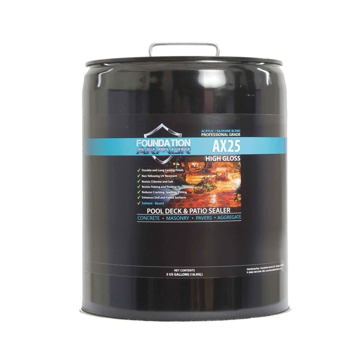 5 Gallon Armor AX25 Water Repellent Infused High Gloss Se...