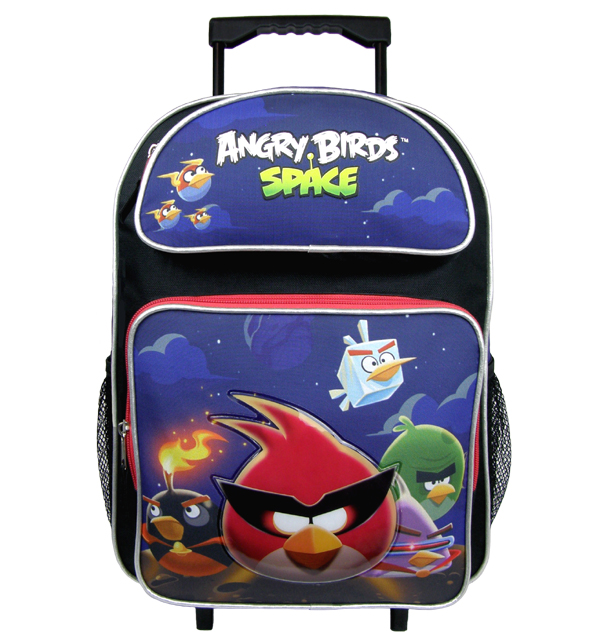 Angry Birds Space Large Rolling Backpack #AN12220