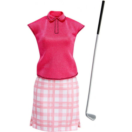 Barbie Career Fashion Set with Golfing-Themed Doll Clothes & Golf Club