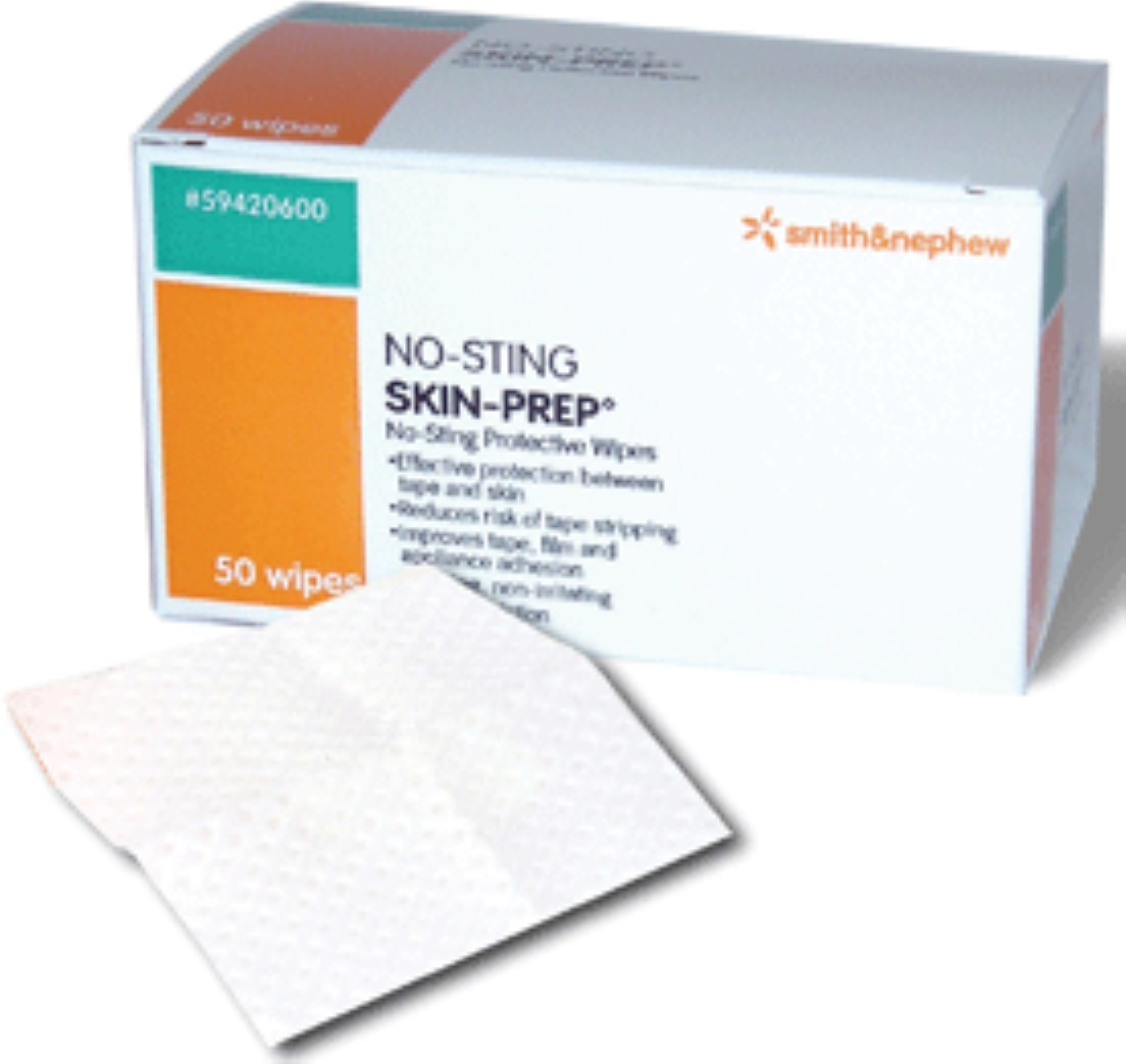 No-Sting Skin-Prep Wipes [54920600] 50 ea (Pack of 4) sulwhasoo essential duo set ( essential balancing water 4.23 oz/125ml + essential balancing emulsion 4.23oz/125ml + 5 travel kit )