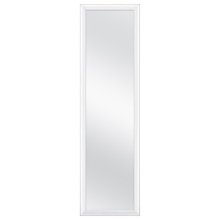 MCS Over-the-Door Framed Mirror, White, 14.4