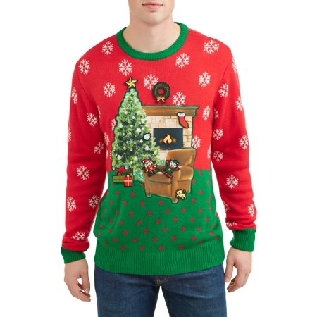 Men's Yuletide Decoration Ugly Christmas Sweater, Up to Size - Ugly Christmas Sweater Invitation