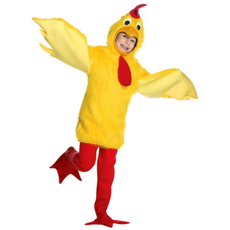 Fuzzy Chicken Child Halloween Costume, One Size, (7-10) - Chicken Costume