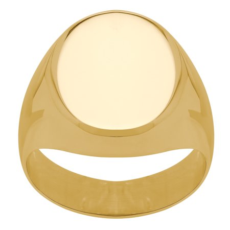 Brilliance Fine Jewelry 10K Yellow Gold Polished Oval Signet Ring Solid Oval Signet Ring