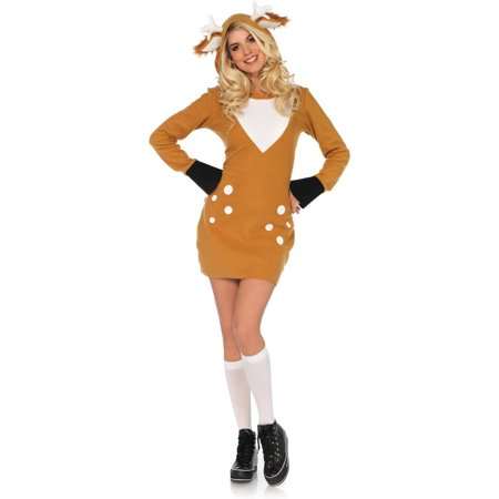 Ultra Soft Fleece Cozy Deer Costume for Women - Ladies Deer Costume