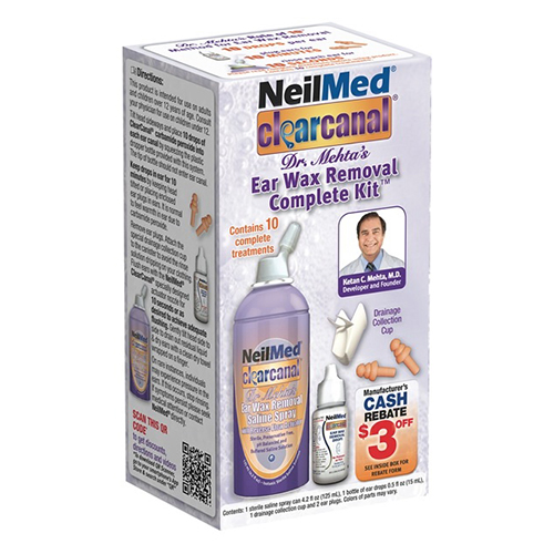 NeilMed Clear Canal Ear Wax Removal Complete Kit - 4.25 oz