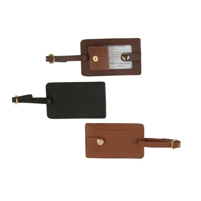 Royce Leather 951-COCO-5 Snap Luggage Tag - Coco