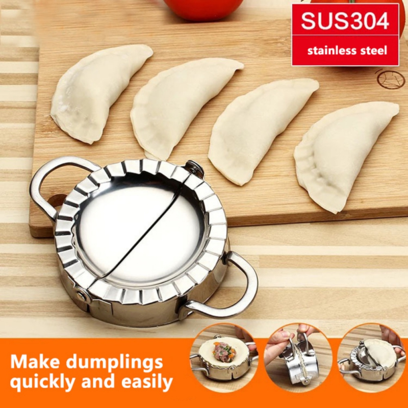 3 Pack Dumpling Mould Maker Wraper set Dough Presser Stainless Steel include