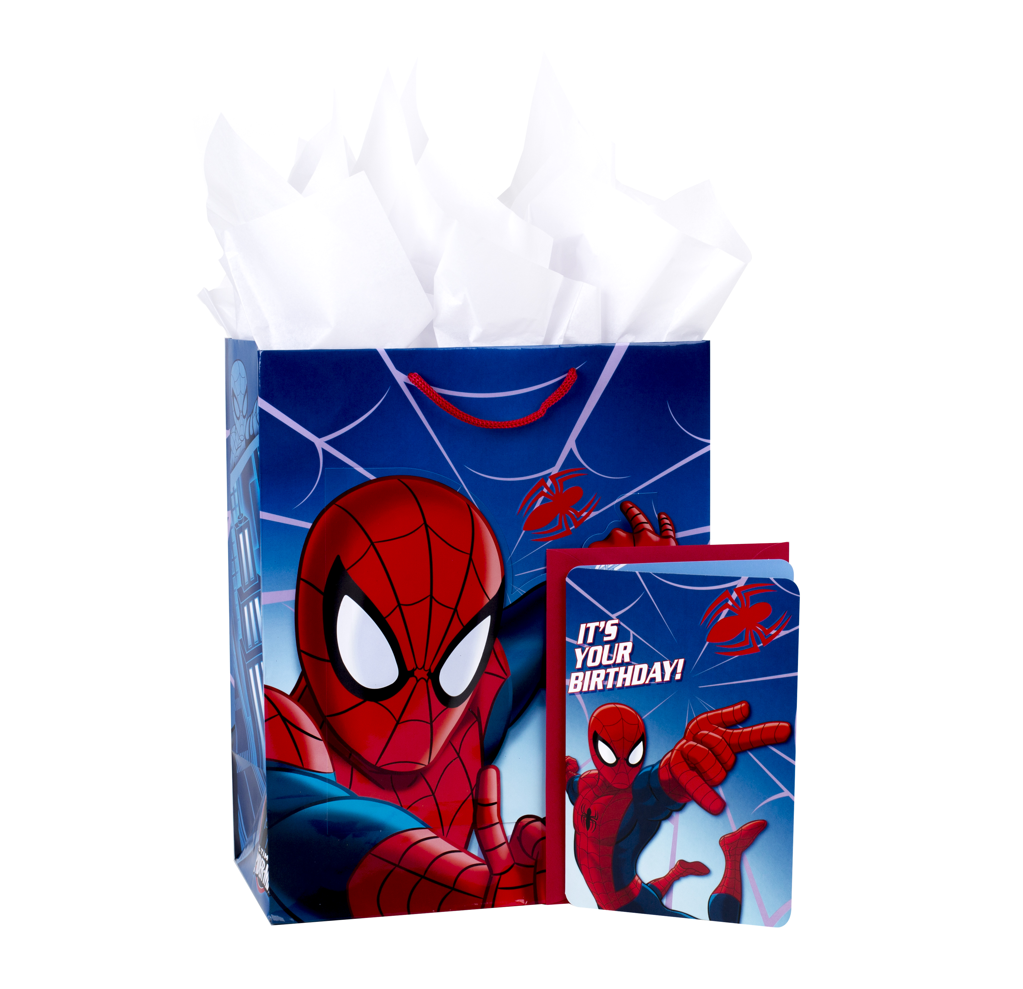 Hallmark, Spider-Man, Large Birthday Gift Bag with Card and Tissue Paper