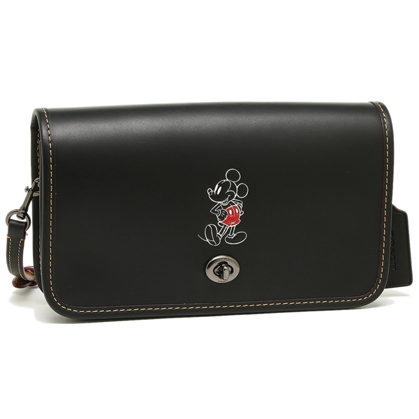 Coach PENNY CROSSBODY IN GLOVE CALF LEATHER WITH MICKEY N...