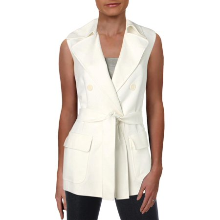 Anne Klein Womens Double-Breasted Tie-Front Vest