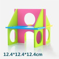 Beautiful Funny Multihole Pet Hamster Wooden Gym Toys Multifunctional Easy to Clean