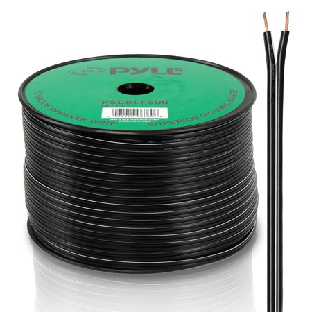 - PYLE PSCBLF500 - 500Ft 12 AWG Spool Speaker cable With Rubber Jacket