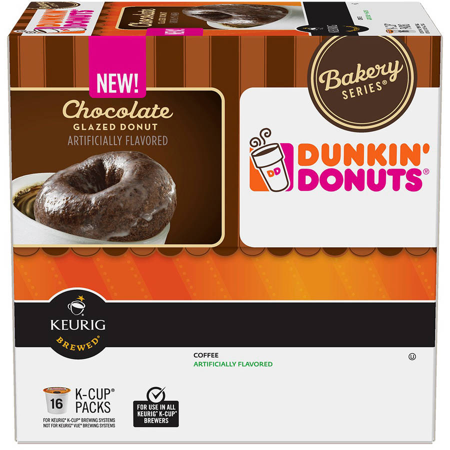 Dunkin' Donuts Bakery Series Chocolate Glazed Donut Coffee K-Cups, 16 count