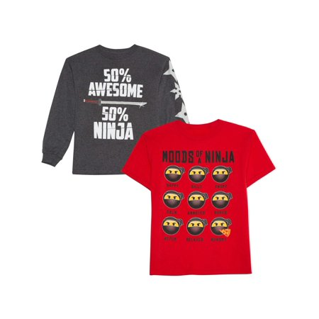 Long And Short Sleeve Graphic Shirt Two Pack (Little Boys & Big Boys) (Short Sleeve Long Tee)