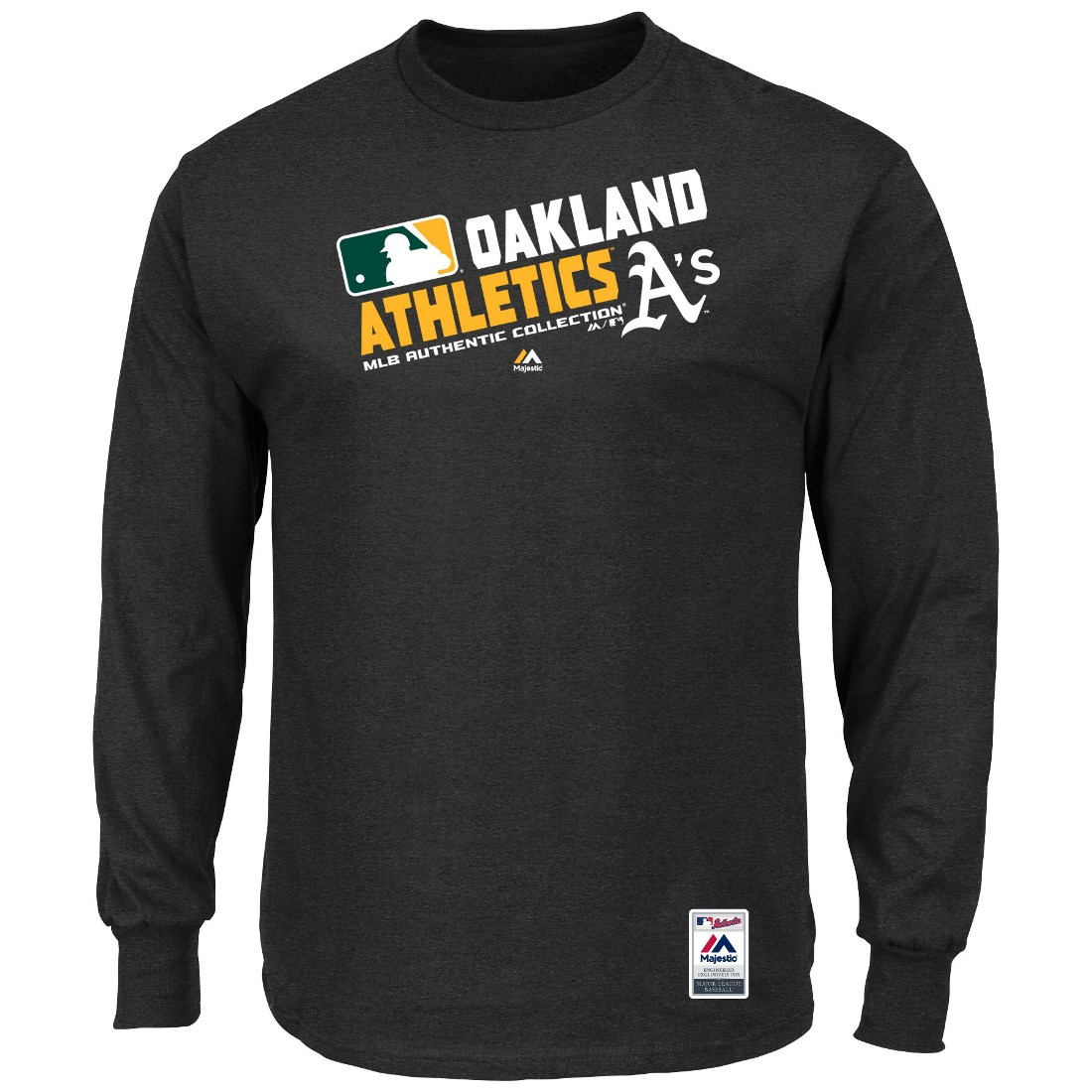 """Oakland Athletics Majestic MLB Authentic """"Team Choice"""" On-Field L/S T-Shirt"""