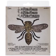 Sizzix Tim Holtz Alterations Layered Bee Bigz Die And Texture Fades