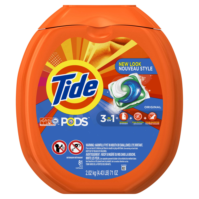Tide PODS Original Scent HE Turbo Laundry Detergent Pacs, 81 Count