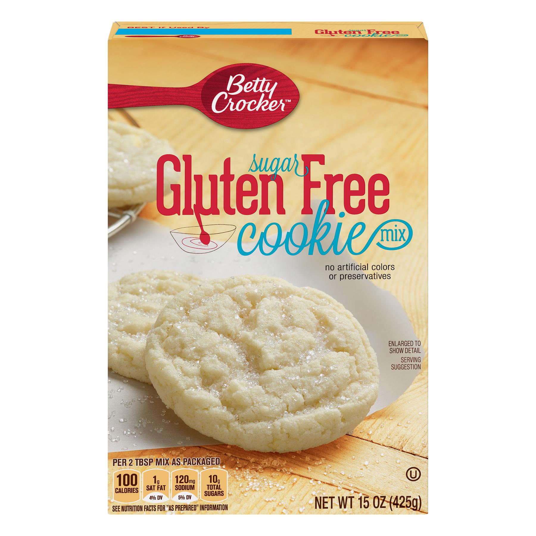 (6 Pack) Betty Crocker Baking Mix, Gluten Free Cookie Mix, Sugar, 15 oz Box