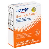 Equate Eye Itch Relief Antihistamine Eye Drops, 0.34 fl oz, 2 count