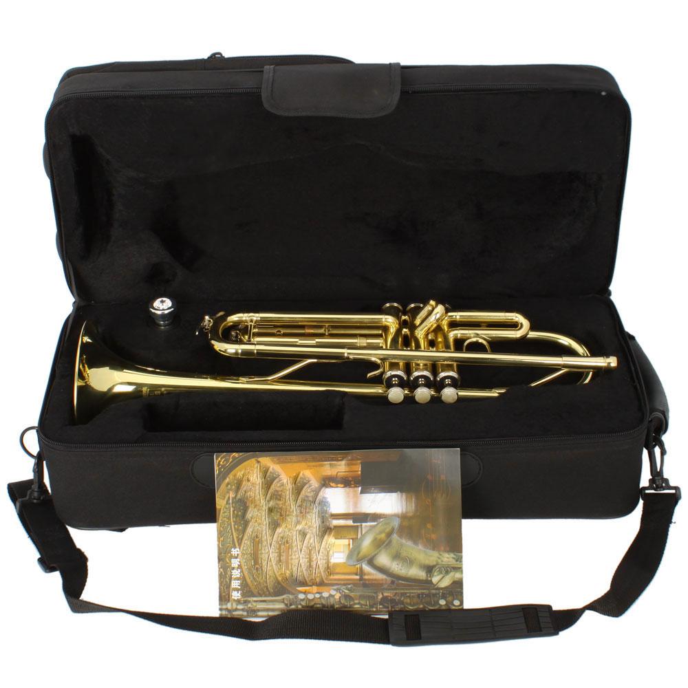 Zimtown New School Music Fashion Concert Brass Student Bb Trumpet Golden by