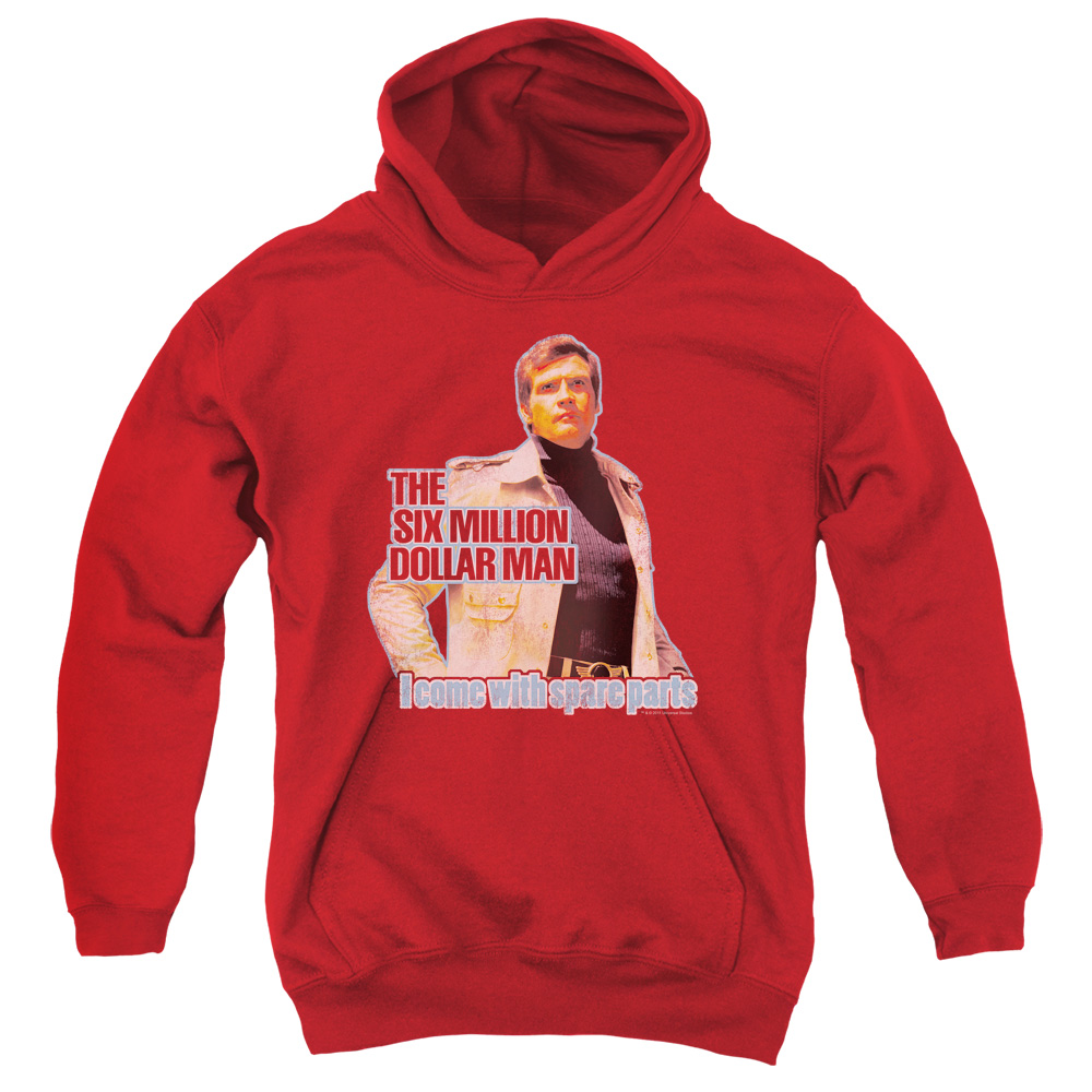 The Six Million Dollar Man Spare Parts Big Boys Pullover Hoodie