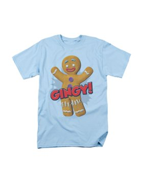045c3822c Product Image Shrek Animated Children's Comedy Movie Gingy Gingerbread Man  Adult T-Shirt