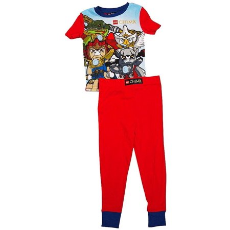 Little Boys Are Superheroes In Disguise (Superhero - Little Boys Short Sleeve Long Leg Pajamas LEGENDS RED /)