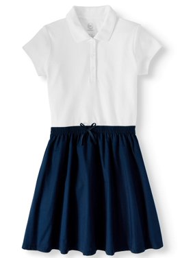 Wonder Nation Girls 4-16 School Uniform 2-fer Dress