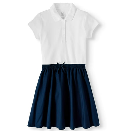 Wonder Nation School Uniform 2-fer Dress (Little Girls & Big Girls)