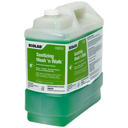 Wash 'n Walk Sanitizing Floor Cleaner Liquid 2.5 gal. Container, 1:64, 1 (Walking Floor)