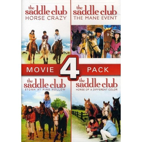 The Saddle Club 4 Pack: Horse Crazy / The Mane Event / Storm At Pine Hollow / Horse Of A Different Color (Widescreen)
