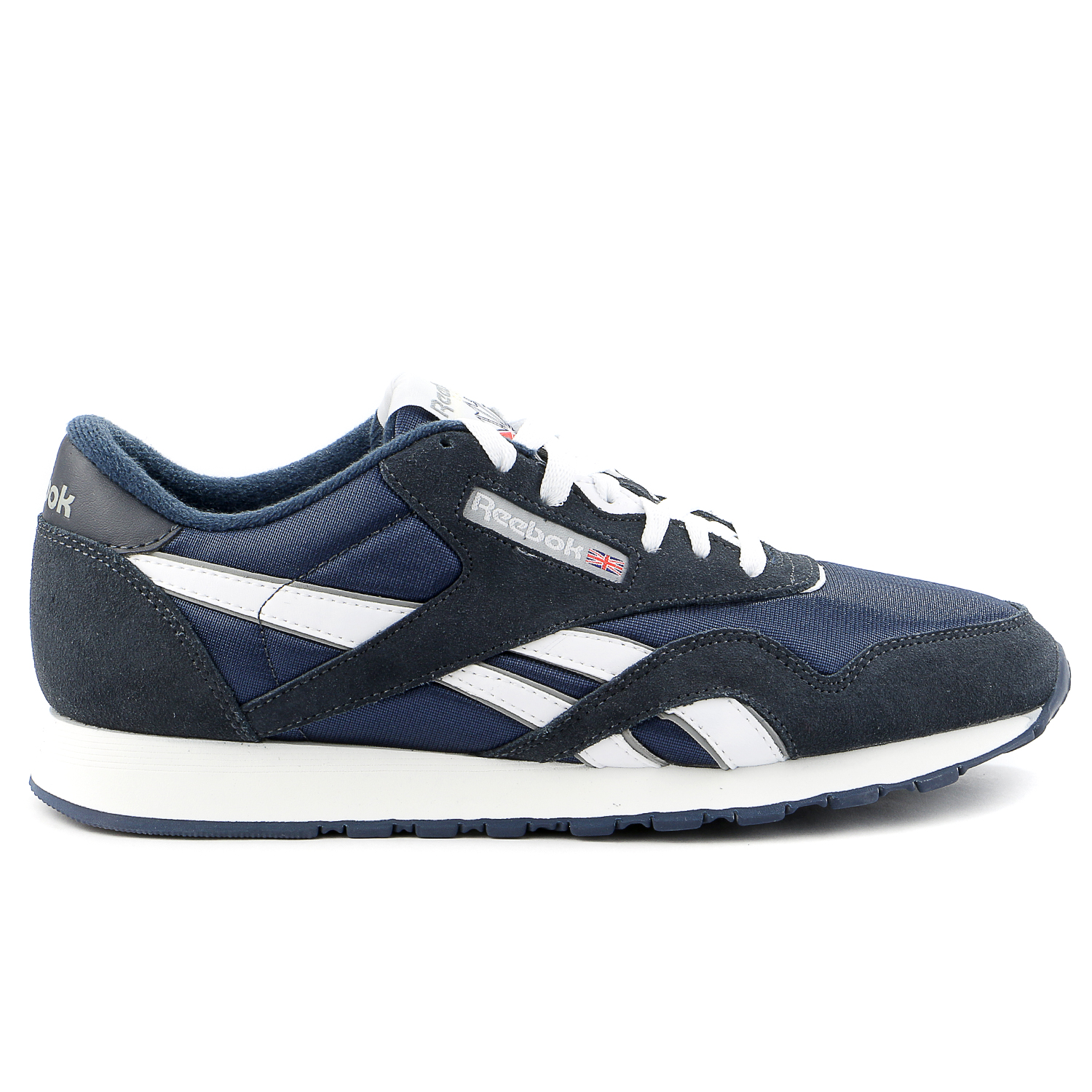 Reebok Classic Nylon Running Shoe Team Navy Platinum Mens by Reebok
