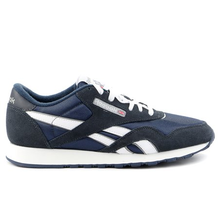 - Reebok Classic Nylon Running Shoe - Team Navy/Platinum - Mens