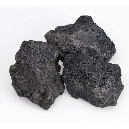 - American Fireglass Black Lava Rock, 4