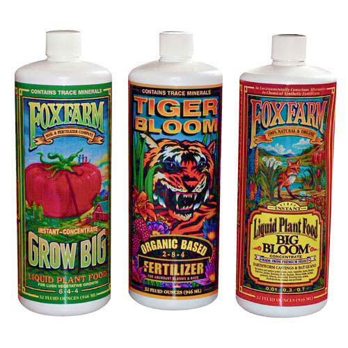 HYDROFARM Plant Fertilizer, 3-Pack Assortment, 1-Qt. each