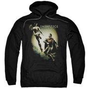 Trevco Injustice Gods Among Us-Battle Of The Gods Adult Pull-Over Hoodie, Black - 2X
