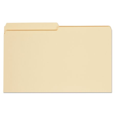 Universal File Folders, 1/2 Cut, One-Ply Top Tab, Legal, Manila, 100/Box - Cut Legal Manila File