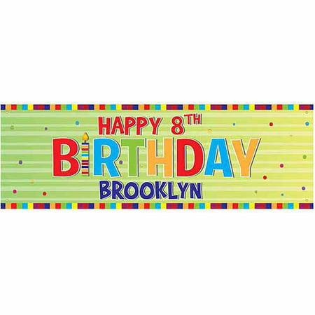 Personalized Green Happy Birthday - Happy Birthday Personalized Banner