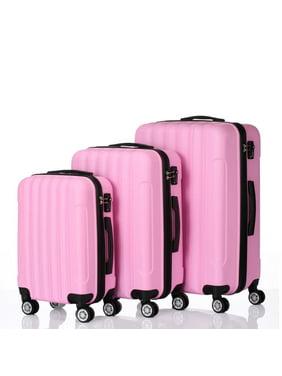 2eb4e95dd Product Image 3 PCS Luggage Travel Set Bag ABS Trolley Hard Shell Suitcase  w/TSA lock