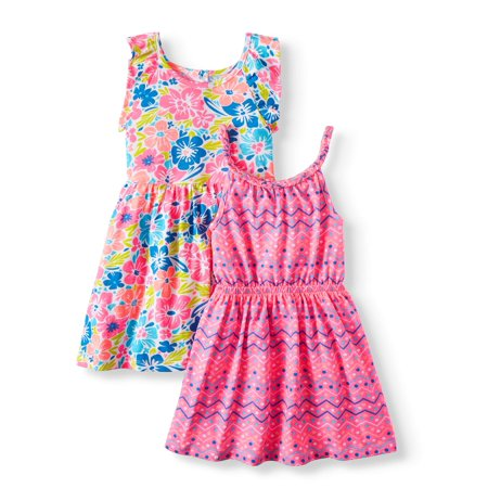 Floral Tank Dress & Sleeveless Printed Dress, 2-pack (Toddler Girls)](Rare Too Christmas Dress)