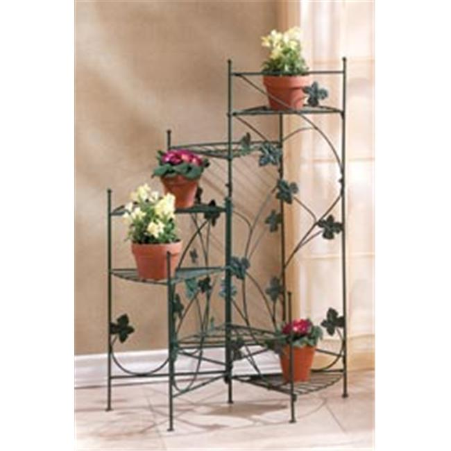 SWM 34764 Ivy Metal Six Staircase Style Plant Pot Stand Rack