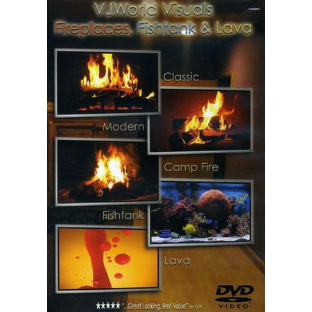 VJworld Visuals: Fireplaces, Fishtank and Lava (DVD)